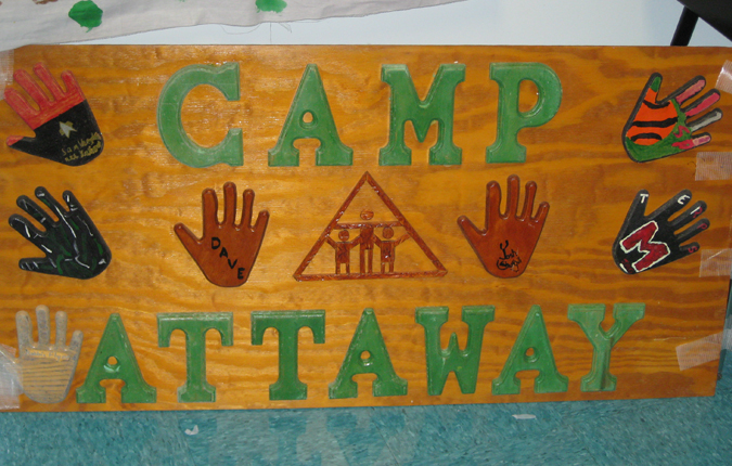 Camp Attaway welcome sign